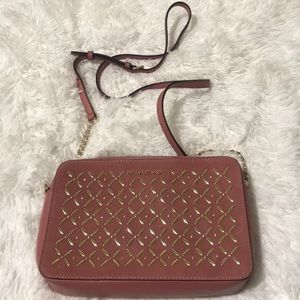 Like New MK Suede and leather cross bag